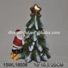 Novel design ceramic christmas ornaments of santa and tree