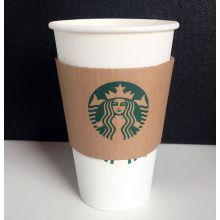 Бумажный рукав для горячей питьевой чашки Starbuck Coffee
