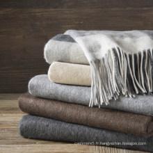 Couvertures tissées en laine d'agneau