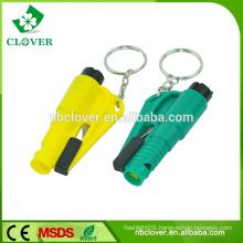 Plastic material multifunctional car & bus emergency hammer with seat belt cutter