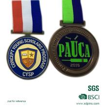 Antikes Kupfer überzog weiche Emaille-Schulsport-Sitzungs-Medaille