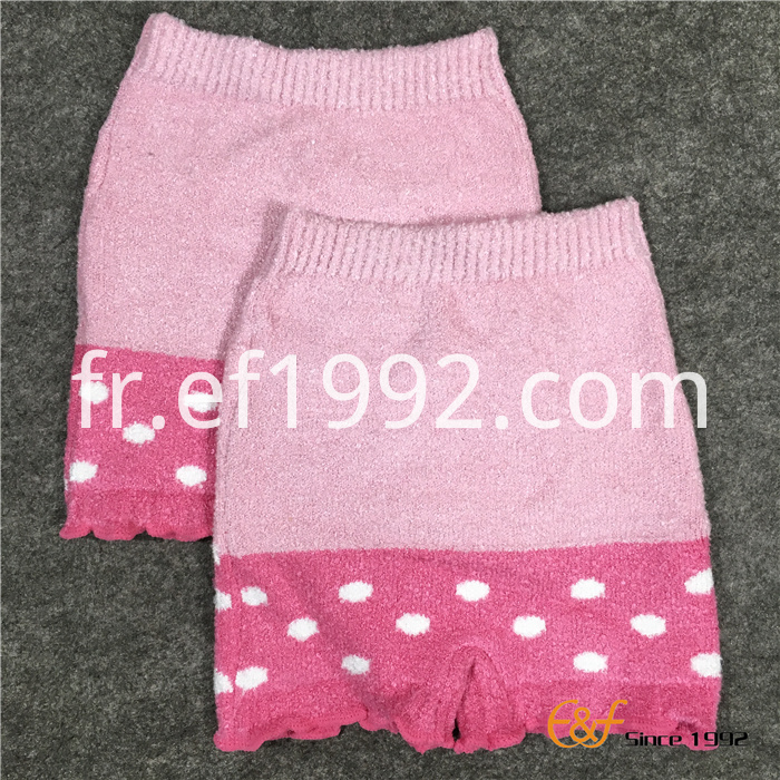 Pink warm short pants
