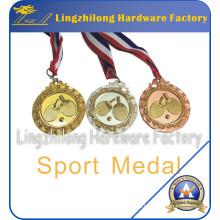 Medalla deportiva personalizada de ping-pong