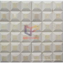 Pyramid Shape Marble Natural Stone Mosaic (CFS952)