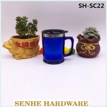 Tasse à café en acier inoxydable double paroi de 450 ml (SH-SC22)