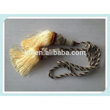 Decorative Twisted Curtain Tassel Tieback Cord, Rope For Curtain
