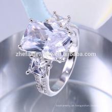 Einzigartige Verlobungsringe, große blaue Stein Ring Design Großhandel