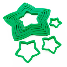 Plast 10PCS 3D Star Cookie Cutter