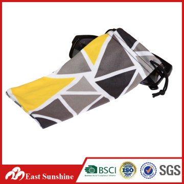 Digital Printed Drawstring Microfiber Sunglasses Bag