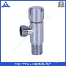 Хромированный угловой латунный клапан с цинковой ручкой (YD-5031)