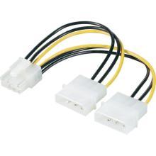 Molex duplo ao cabo do adaptador da placa gráfica da potência de PCI-E