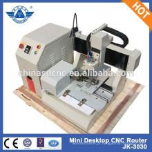 JK-3030 Mini Desktop CNC gravura máquina cinzelando Artware, Metal, madeira
