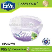 Manufacturer 4 side lock plastic transparent salad bowl