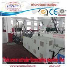 Maquinaria de plástico cónico doble tornillo extrusora/WPC