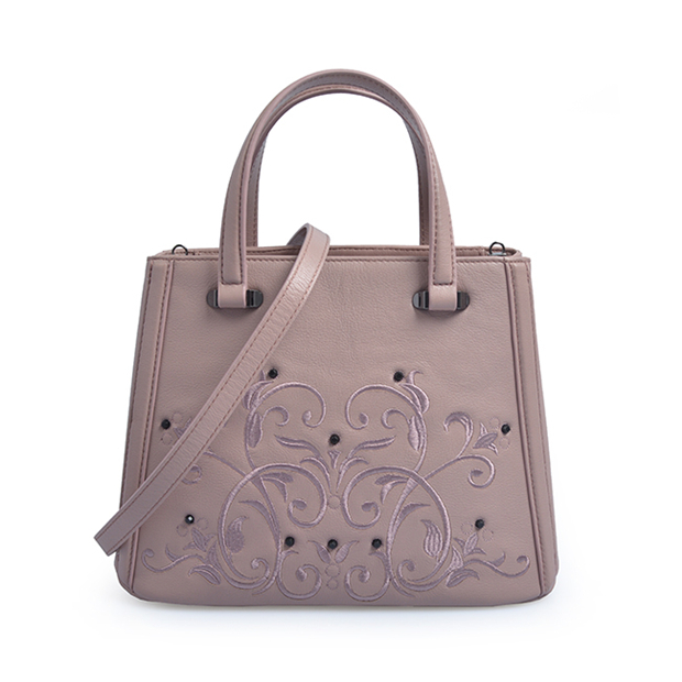 Hand Embroidered Leather Tote Shoulder Bags Ladies Handbags