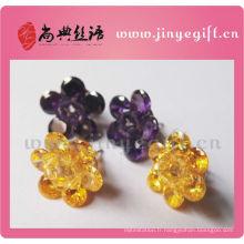 Bijoux culturels Shangdian artisanal Zircon Big Stud boucles d'oreilles
