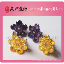 Cultural Jewelry Shangdian Crafted Zircon Big Stud Earrings