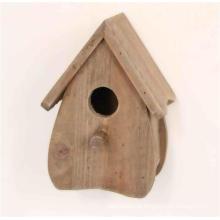 Antigo, estilo, madeira, natural, marrom, birdhouse