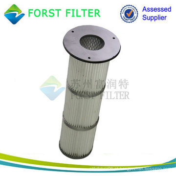 Alta Temperatura Metal / Cap Borracha Top Instalar Plissado Filtro Cartucho