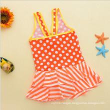Littlr Girl′s Fashion Ruffled Swimwear