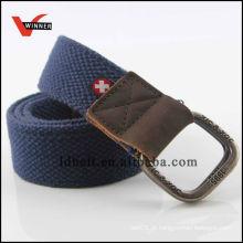 Cinturão de lona personalizado militar de moda