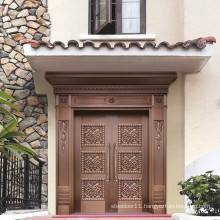 Good quality residential Brass pure copper entry doors