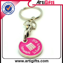Professional Carft trolley coin& trolley coin keychains&shopping trol