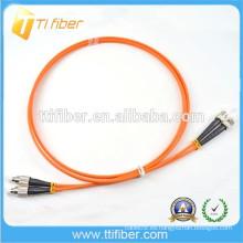 FC-ST Conector de cable de conexión de fibra óptica Multimode Zipcord