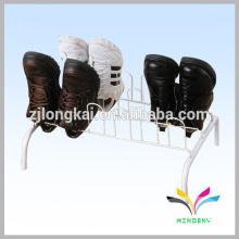 Exterior dentro de los zapatos de secado diy blanco vitrina metal montado zapatero
