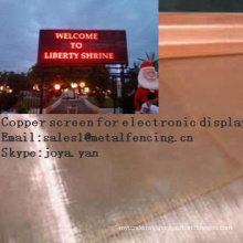 Copper screen for electronic display