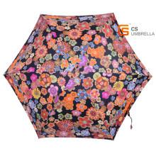 Superleichte bunte Blume 5 Falten Regenschirm mit Fall (YSF5006B)