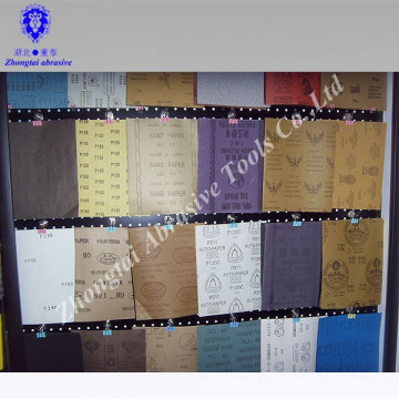Toutes sortes de papier sablé abrasif