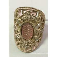 Hollow Lace Ring with Metal for Beauty