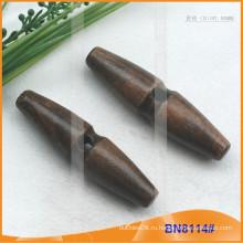 Модная натуральная деревянная ручка с кнопками для одежды BN8114