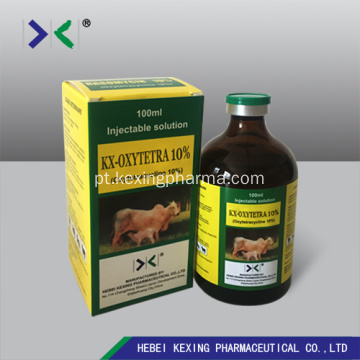 Injeção animal de oxitetraciclina Hcl 10%