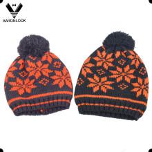 Children Winter Acrylic Jacquard Hat Snowflake Pattern