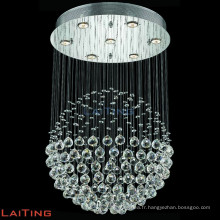 Hôtel projet hall K9 cristal goutte grand globe lustre avec LED 91004