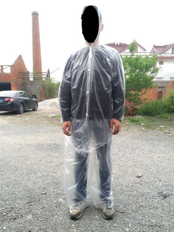 cheap PE raincoat suit without shoes cover
