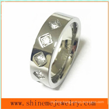 Jewelry Fashion High Quality CZ Stainless Steel Ring (CZR2525)