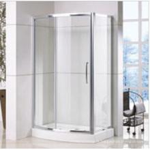 Cabine de douche à l'avant avec panneau latéral