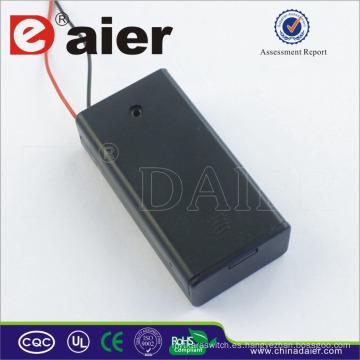 Daier aa soporte de batería con cubierta 3v soporte de batería con interruptor de control 2 aa soporte de batería