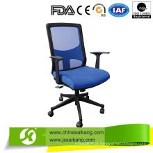 Cadeira de escritório de cores diferentes com apoio de braço e pés de nylon