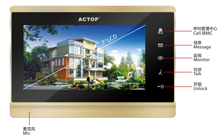 ip video door phone indoor screen buttons
