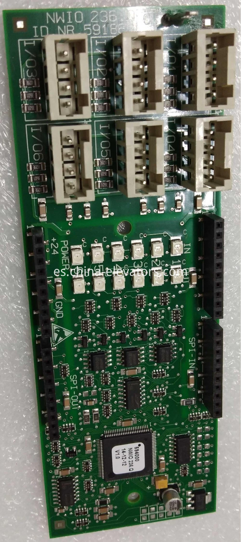 Schindler Elevator Cabin Function Interface Board 591869