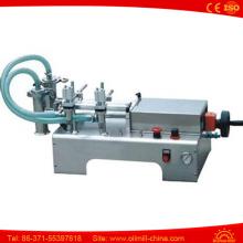 Полуавтоматическая двухголовочная машина для розлива подсолнечного масла из нержавеющей стали 316L