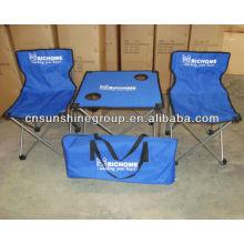 Conjunto mesa y silla niños portátiles, camping juegos