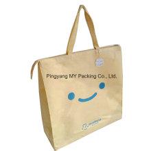 Eco freundliche Verpackung Polypropylen Non Woven Tote Reißverschluss Handle Bag