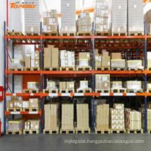 warehouse heavy duty steel box beam pallet rack