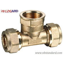 Pipe Fitting Tee/Brass Female Thread Tee for PE and Pex-Al-Pex Pipe