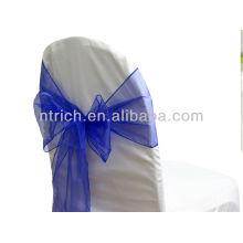 Королевский синий, фантазии моде кристалл органзы стул створки галстук обратно, лук галстук, узел, Чехлы на стулья свадьбы и скатерть